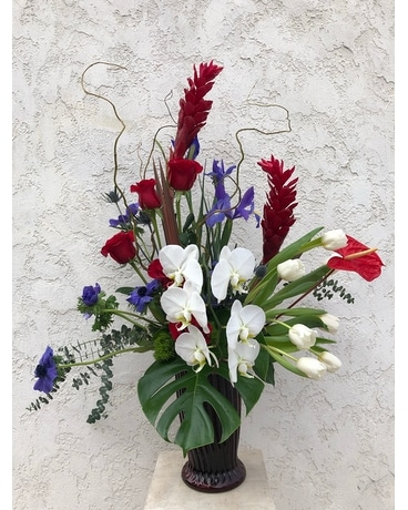 Patriot tropical Flower Arrangement