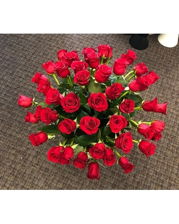 50 Red Roses in vase Custom product