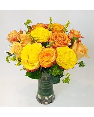 Yellow orange crush in ferndale mi blumz jrdesigns yellow orange crush flower arrangement mightylinksfo