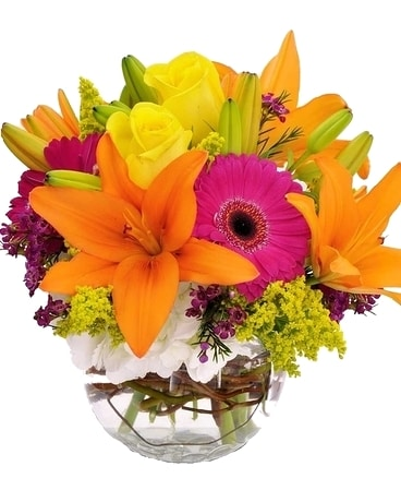Bright and Bold Flower Arrangement