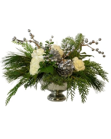 Silver Elegance Flower Arrangement