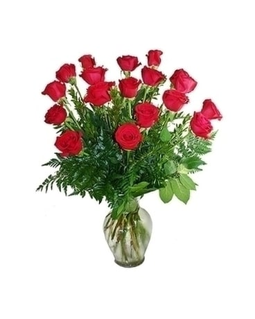 1 1/2 Dozen Red Roses Arranged