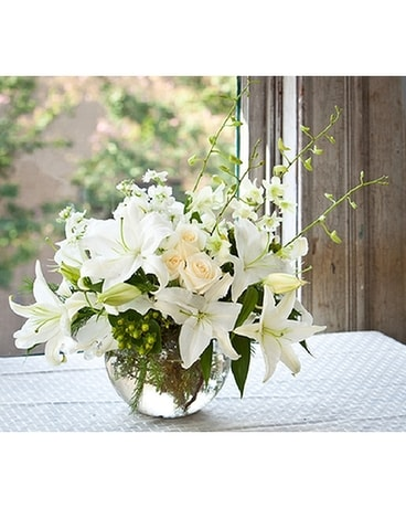 Winter White Bouquet Flower Arrangement