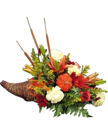 Schroeder's Own Cornucopia Flower Arrangement