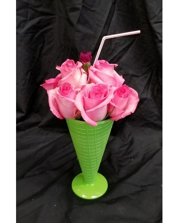 Schroeder's Ice Cream Soda Flower Arrangement