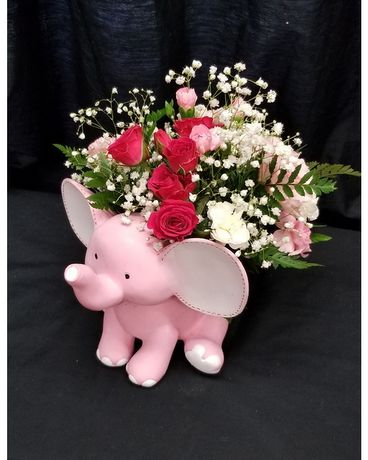 Schroeder's Happy Elephant Flower Arrangement