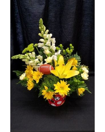 Schroeder's Football Time Flower Arrangement