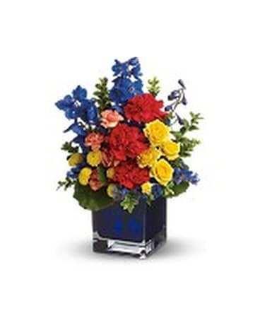 Color Collage Flower Arrangement