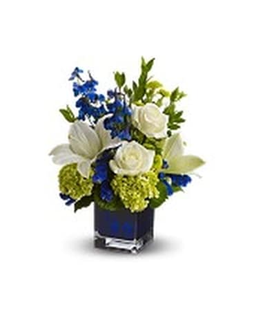 Serenade In Blue Flower Arrangement