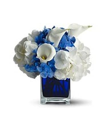 Waves Of Blue Flower Arrangement