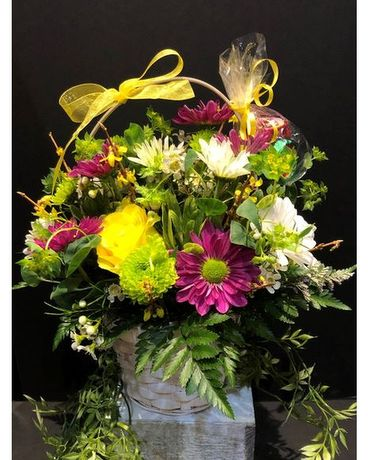 May Day Basket Flower Arrangement