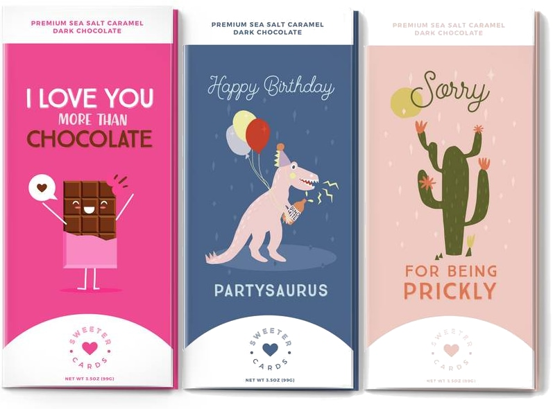 Sweeter Cards, Greeting Card and chocolate bar!