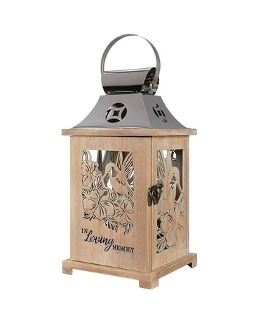 In Loving Memory Wooden Lantern Gifts