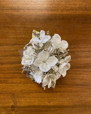 Ivory & Gold Wrist Corsage Corsage