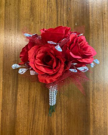 Red & Silver Prom Bouquet Bouquet
