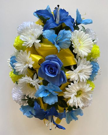 Blue & Yellow Monument Topper Custom product
