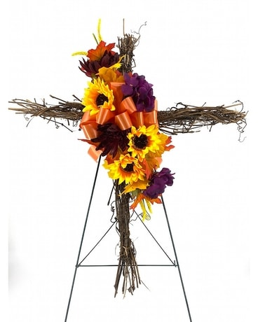Fall Cross with Easel Custom product