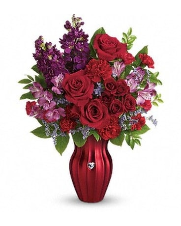 Teleflora's Shining Heart Bouquet Flower Arrangement