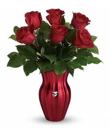 Teleflora's Heart Of A Rose Bouquet Flower Arrangement
