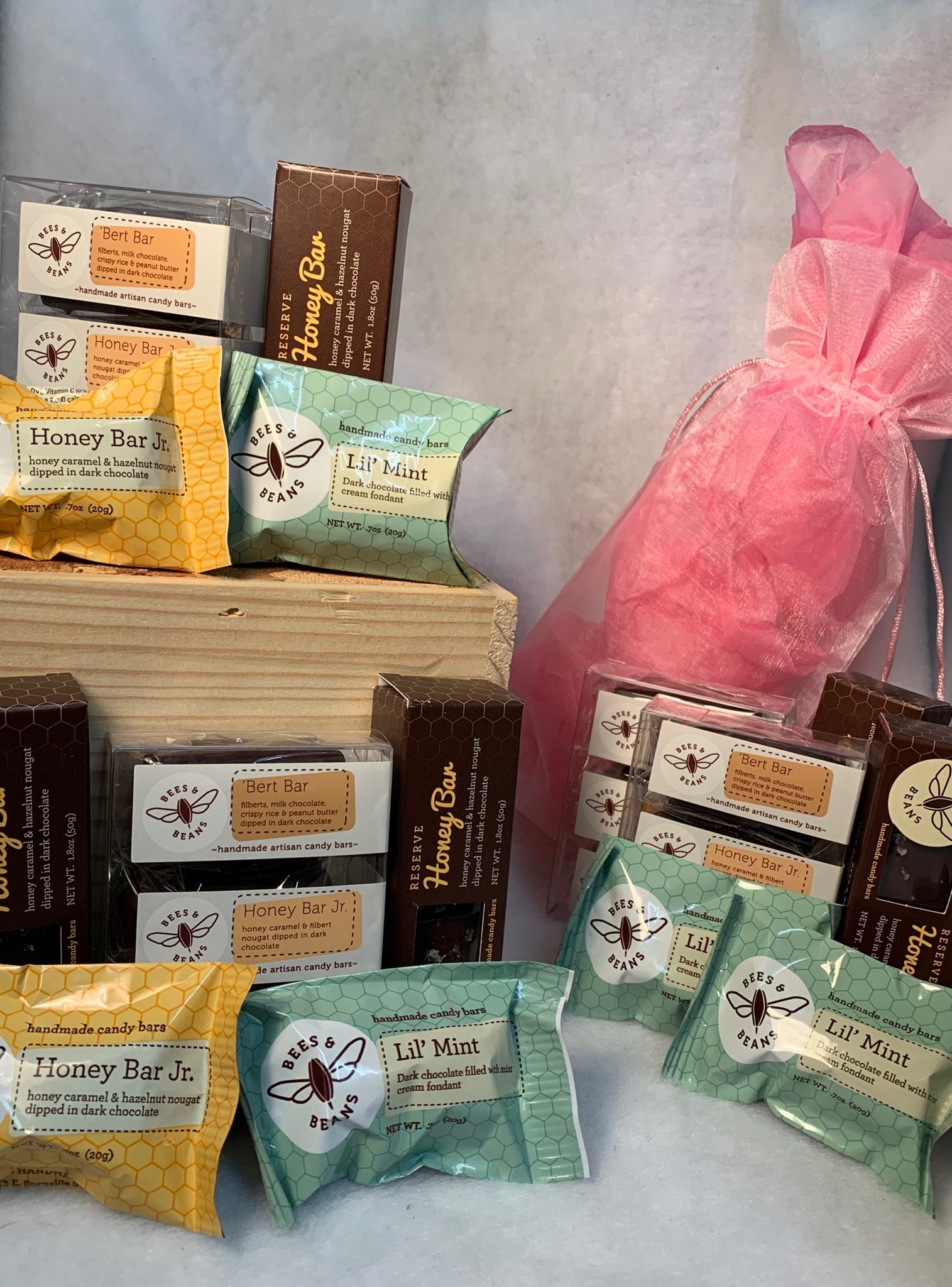 Local Handmade Chocolate Gift Bag, Featuring Bees & Beans, and Oregon Bark