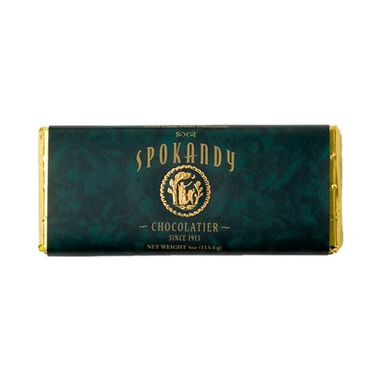 Spokandy Solid Dark Minted Chocolate Bar
