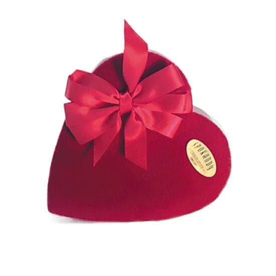 Spokandy 15 oz Assorted Chocolates in Red Velvet Heart With Bow