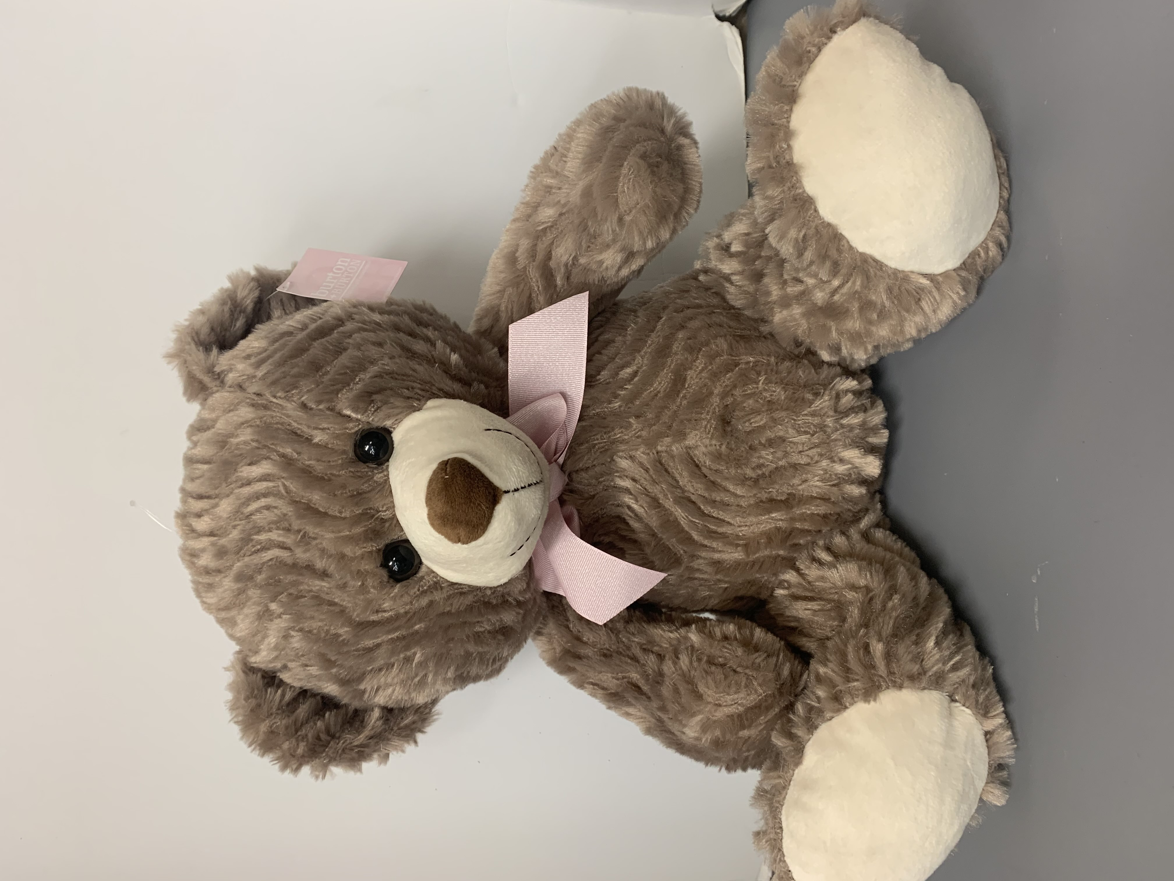 Light Brown Bear with Pink Bow