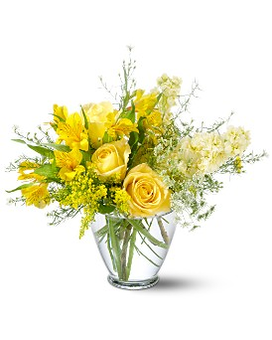 Teleflora's Delicate Yellow Flower Arrangement