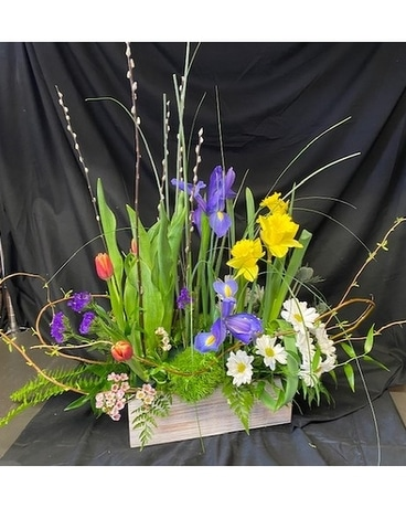 Spring Garden Box Bouquet Flower Arrangement