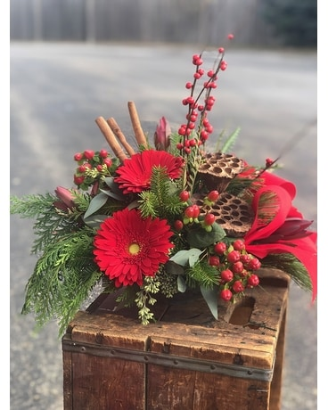 A Christmas Story Flower Arrangement