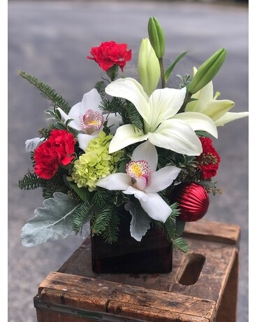A Christmas Carol Flower Arrangement