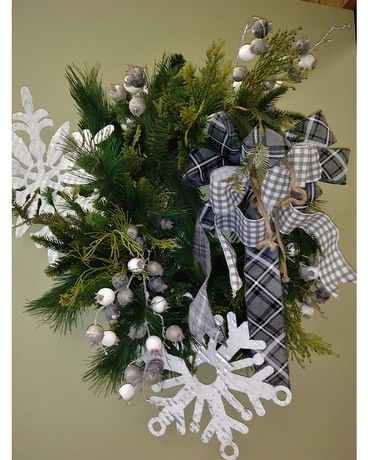 Snowflake Wreath Specialty Arrangement