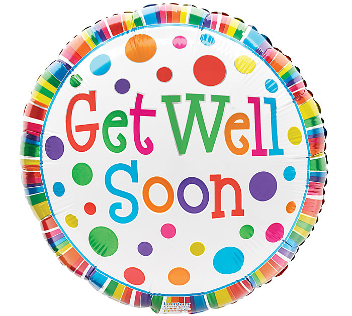Get Well Soon Balloon Pick (Pattern may vary)