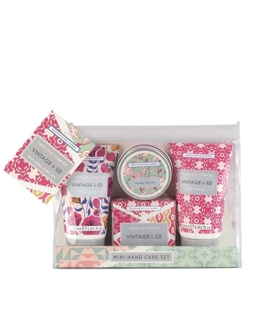 Vintage & Co Fabrics & Flowers Mini Hand Care Set Gifts