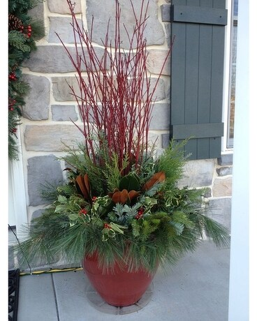 Red Dogwood Outdoor Winter Planter Custom product