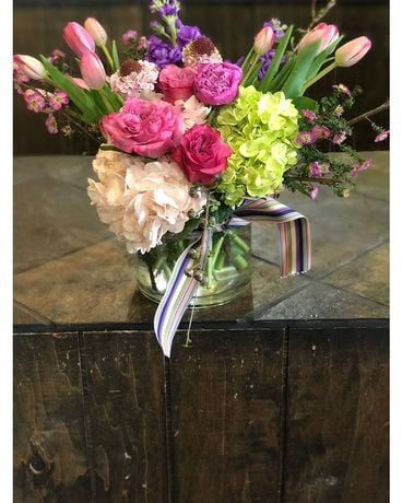 Large Cylinder Heritage Design Flower Arrangement