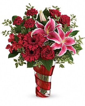 Telefloras Swirling Desire Bouquet Flower Arrangement