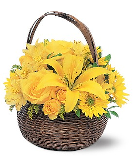 Get well flowers delivery winchester ky haggards flower house yellow flower basket mightylinksfo