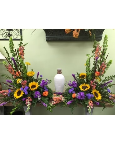 Cremains Urn Surround Flower Arrangement