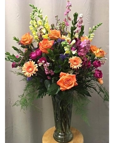 Bright summer mixed vase Flower Arrangement