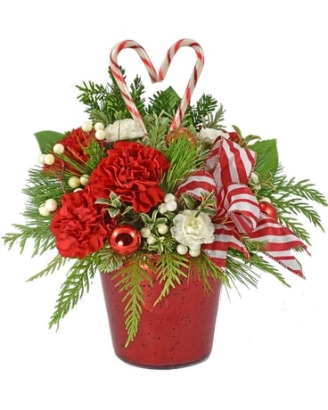 Holiday Hearts Flower Arrangement