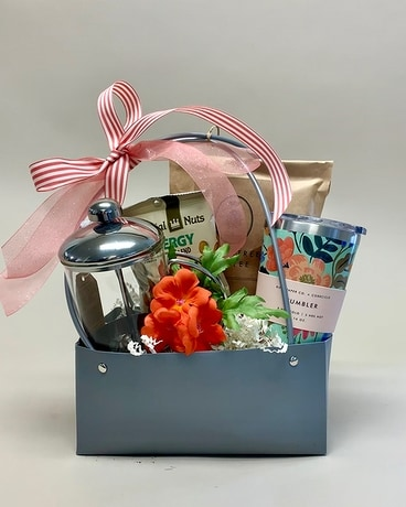 The Perfect Perk Gift Set Flower Arrangement