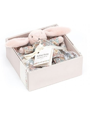 Bedtime Blossom Bunny Gift Set Flower Arrangement
