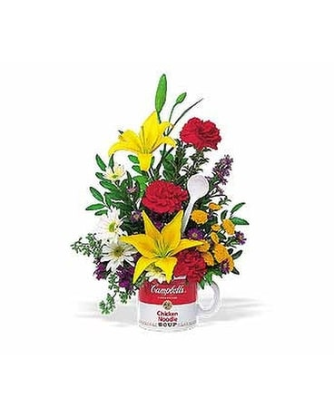 The Teleflora Campbell's® ''Get Well'' Bouquet Flower Arrangement
