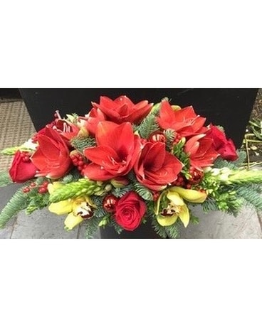 Crimson Christmas Flower Arrangement