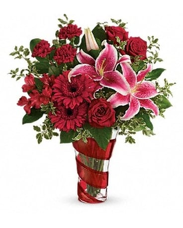 Teleflora's Swirling Desire Bouquet Flower Arrangement