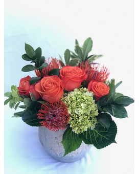 Hillside's Orange Zest Flower Arrangement