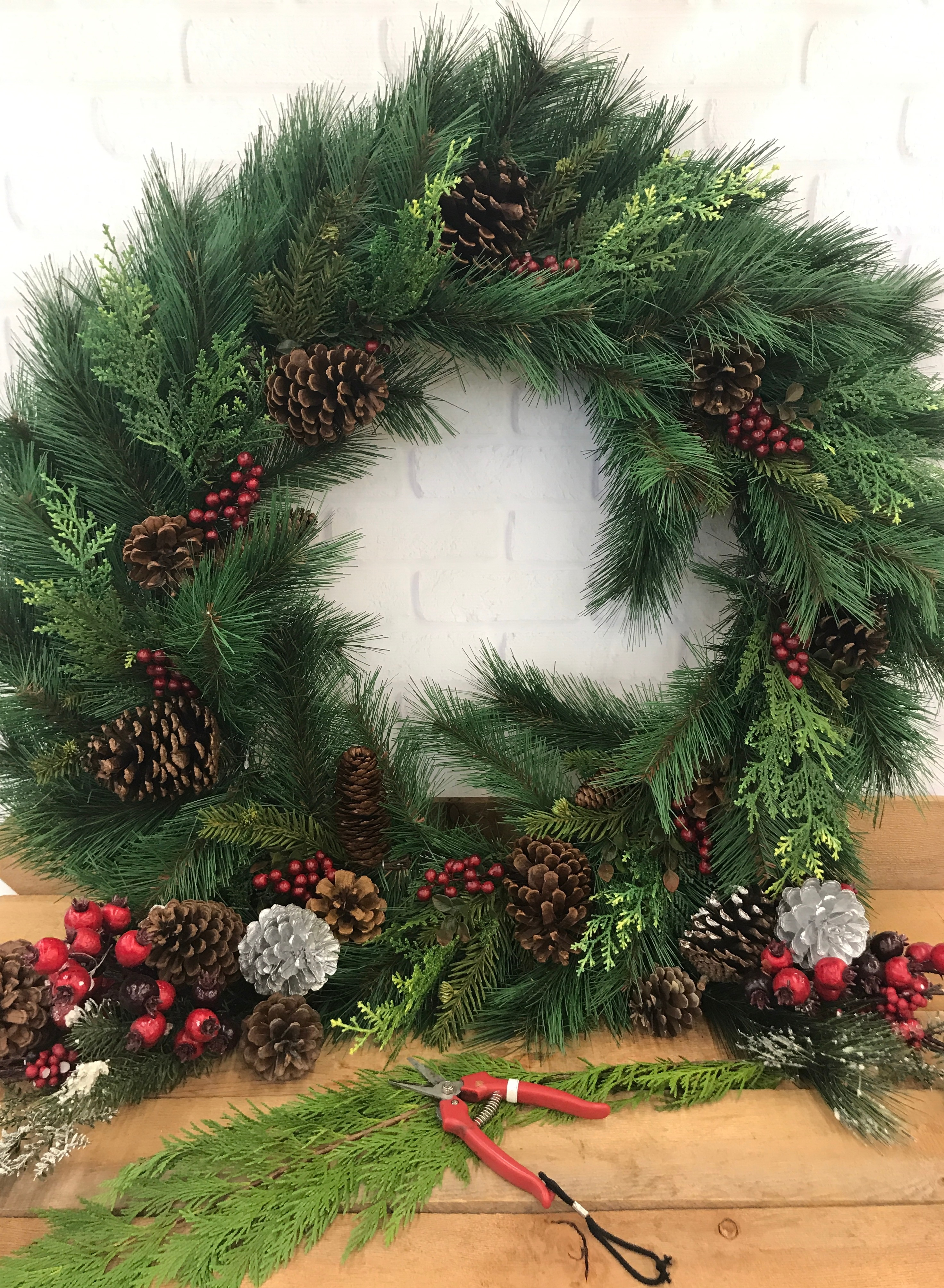Christmas Wreath Decorating Class