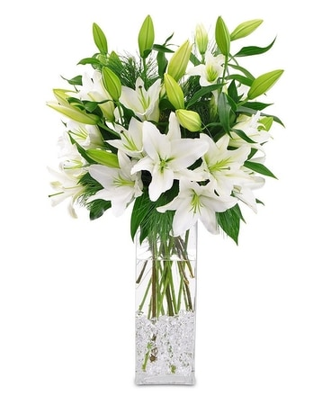 Winter White Lilies In Savannah Ga John Wolf Florist