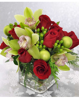 Orchids & Roses Flower Arrangement